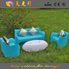 High fashion CE ROHS party home decoration garden plastic sofa