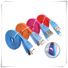 Hot selling smile face charger USB cable, flat usb extension for iphone 6