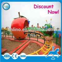 Hot!!! Weird electric apple train used amusement park kids tourist train for sale