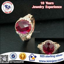 Fashion jewelry 925 silver copper diamond ring
