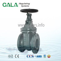 DIN F4 NRS metal seal cast iron flanged industrial full port gate valve,wellhead gate valves