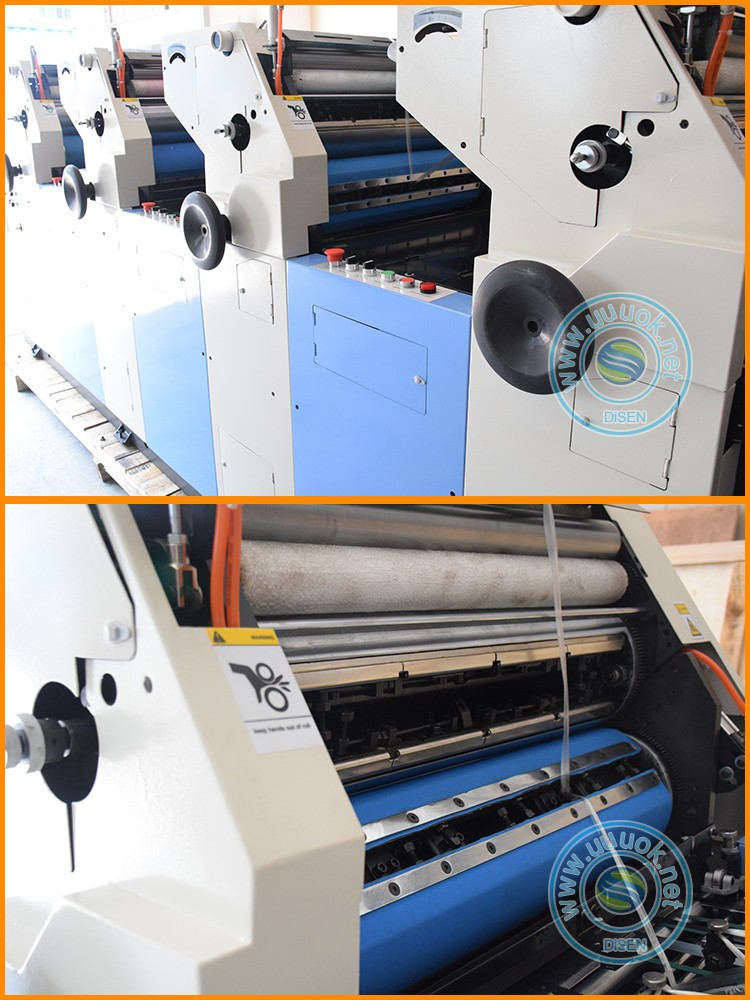High precision unit type industrial low cost multi colour offset printing machine price