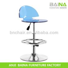 Blue acrylic seat half back chair