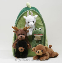 plush animal farm house/plush pet house/dog house plush