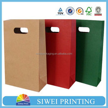 2015 New Design kraft paper bag high quality shopping for packing