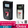 Fingerprint access control & time attendance black and silver fingerprint time attendance & access control s JTL-F20