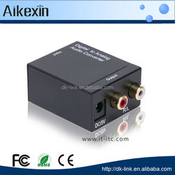 Digital Optic Coaxial RCA Toslink Signal to Analog Audio Converter Adapter DVD