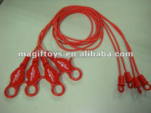 new types bungee cord lanyard with metal hooks