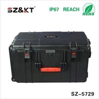 hard shell plastic equipment case with foam
