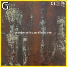 6JS007 foshan grand cerámica rústica de copia de metal óxido de tejas rojas