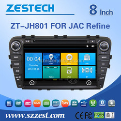 touch screen car radio for JAC Refine S5 car gps navigation system with rearview camera bluetooth mp3/mp4 entertainment system