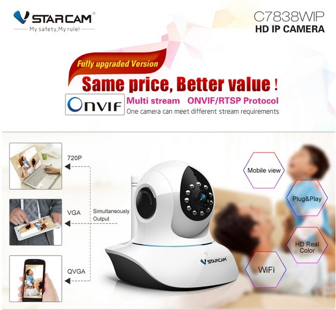 VStarcam C7838WIP 720P HD wireless surveillance camera wifi camera ip onvif