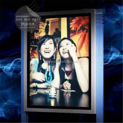 aluminium light frame of Indoor LED arylic sheet light box for advertising