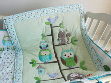 OWL Design Baby Quilt Patterns /Baby Quilt/Applique Baby quilt