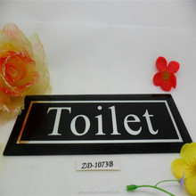 kinds of beautiful exquisite home/office/party/entertainment venues glass plaque for road sign