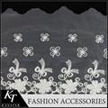 Éxito en ventas, adorno de encaje bordado en algodón, estilo puro para vestidos femeninos, accesorios para vestidos infantiles