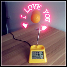 Fan calendar clock & fashion digital hand clock & led backlight clock