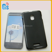 Plain Pudding Matte Soft Gel TPU Back Cover Case For Alcatel One Touch Pop Star 3G OT5022 5022