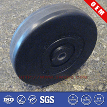 Small rubber wheel with bearing