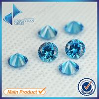 Wholesale Price 1mm-10mm Synthetic Gems Aquamarine CZ Stone