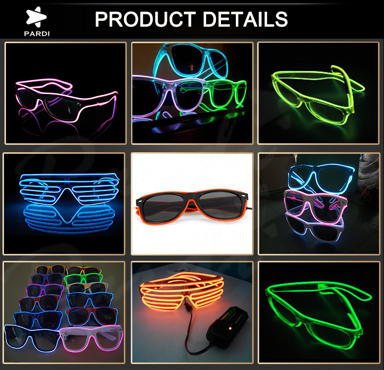 Factory Wholesale El Wire Glasses/el Shutter Shades Sound Control ...