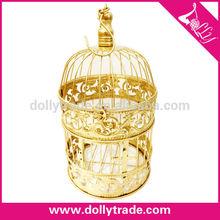 Venta al por mayor alta calidad oro matel de la jaula de casa
