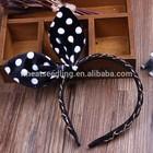 Moda design simples orelhas de coelho banda cabeça para meninas adolescentes faixa de cabelo