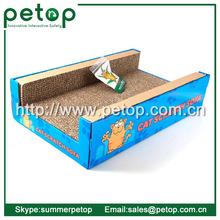 2015 Hot Selling Cheap Corrugated Cardboard Cat Scratcher with Catnip