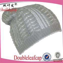 Cheap Sale Women's Winter Plicate Baggy Beanie Knit Crochet Ski Hat Warm Keep Hat