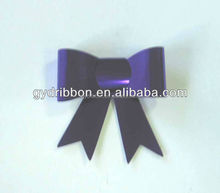 PVC purple butterfly ribbon bow tie for gift decoration or wine bottle wrapping