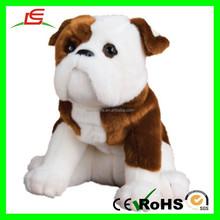 "E377 Soft Beanie Animal Toys 16"" Bulldog Plush Stuffed Dog"