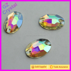 AB Colour Sew on Crystal Rhinestone For Clothes Decoration