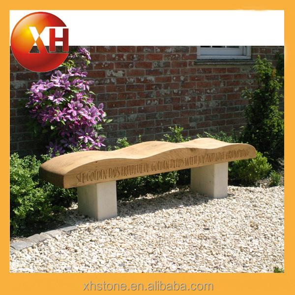 natural outdoor garden long bench seat for outdoor