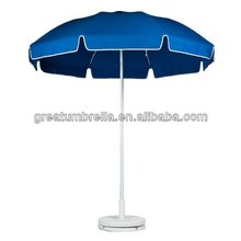 Standard Crank Lift Fiberglass Patio Umbrella with White Pole