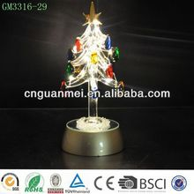 Wholesale 8'' holiday living xmas tree decorations with rainbow led color
