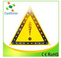 high brightness triangle solar powered led traffic sign