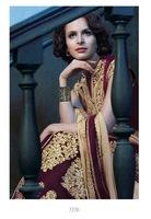 Ravishing Purple Embroidered Velvet Salwar Suit
