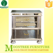 Modern Design MNS-1114 Top Quality Silver Finish Mirrored Night Tables