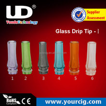 E CIG CHINA wholesale looking for distributors 510 glass stainless steel teflon drip tips mouth piece