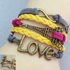 Infinity fashion bangle charm jewelry braided bracelets friendship bracelet for girls FB046