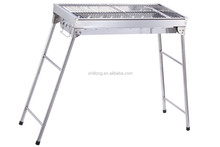 Factory low price foldable stainless steel bbq charcoal camping grill