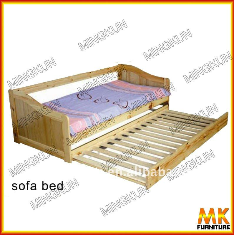 Wood sofa bed with big drawer buy sofa bed modern sofa for Wooden divan bed with drawers