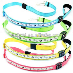 CE certificate Solar recharge LED flashing Dog Leash