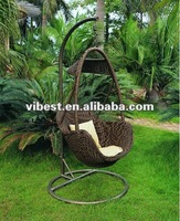 2012 hot sale rattan egg shaped chiar