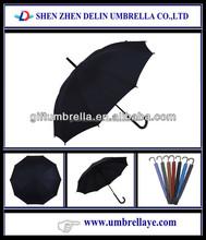 Auto open oem curve handle straight umbrella for sale