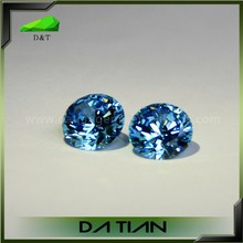 Hot sale cubic zircon round brilliant cut blue cz beads