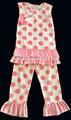 venta al por mayor 2015 rosa traje de los niños niñas y ropa niñas patrón blanco traje traje de los niños