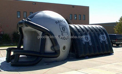 inflatable helmet,Safety Oxford blue and black helmet inflatable tunnel,inflatable party tent