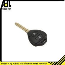 2 b pulsante nero chiave keyless auto a distanza di controllo per toyota yaris