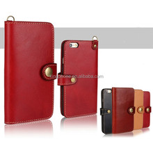 cowhide leather wallet case, leather holster for iPhone6